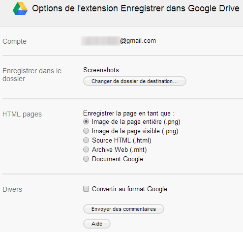 options-extension-enregistrer-dans-google-drive